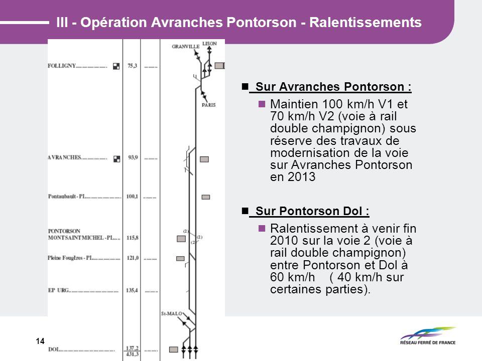 III - Opération Avranches Pontorson - Ralentissements