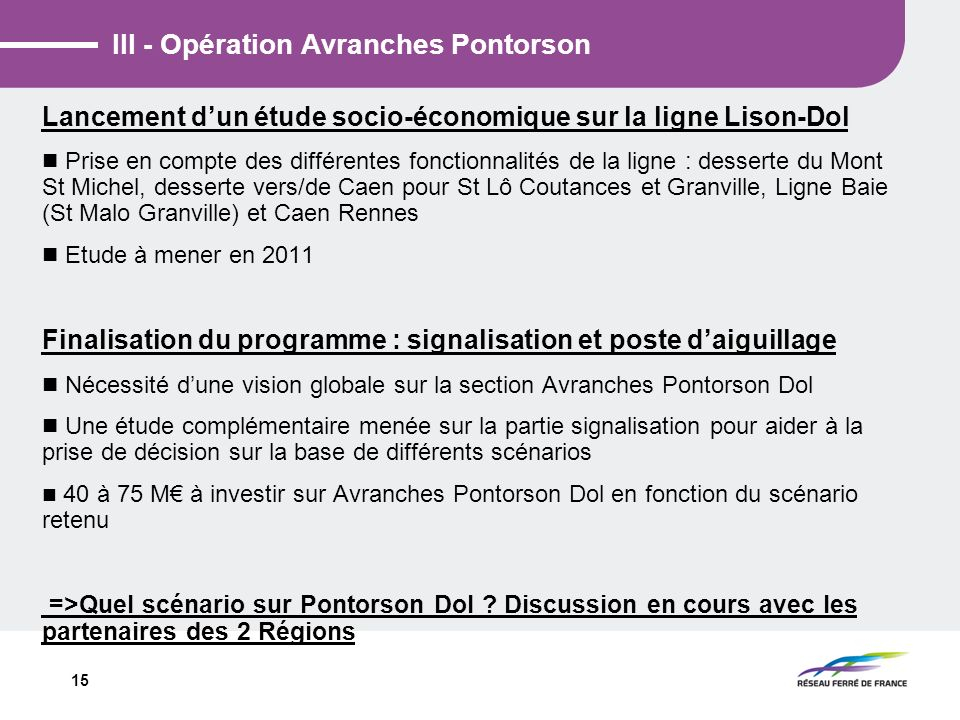 III - Opération Avranches Pontorson
