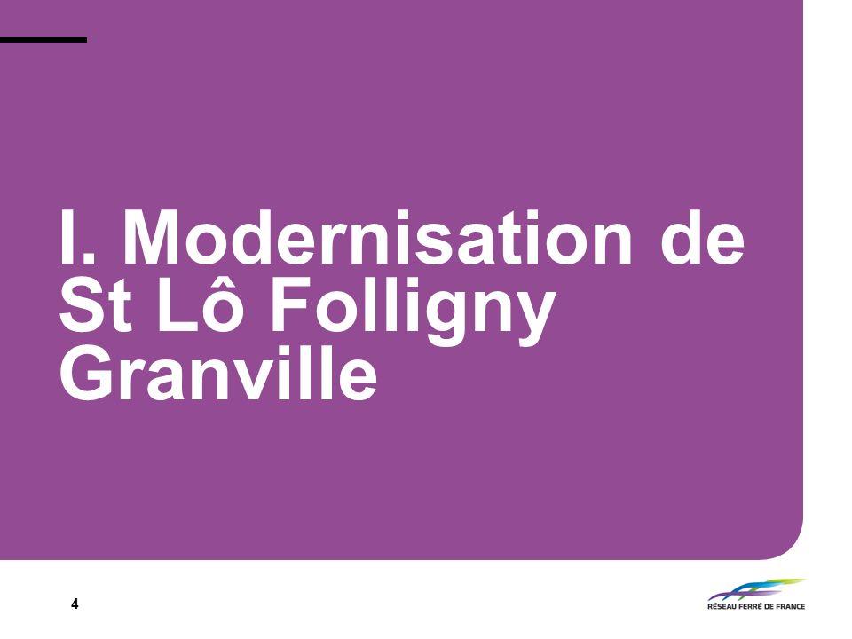 I. Modernisation de St Lô Folligny Granville