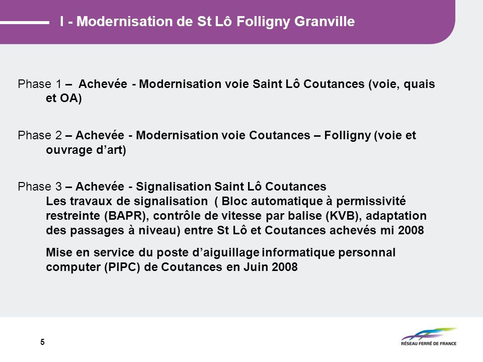 I - Modernisation de St Lô Folligny Granville