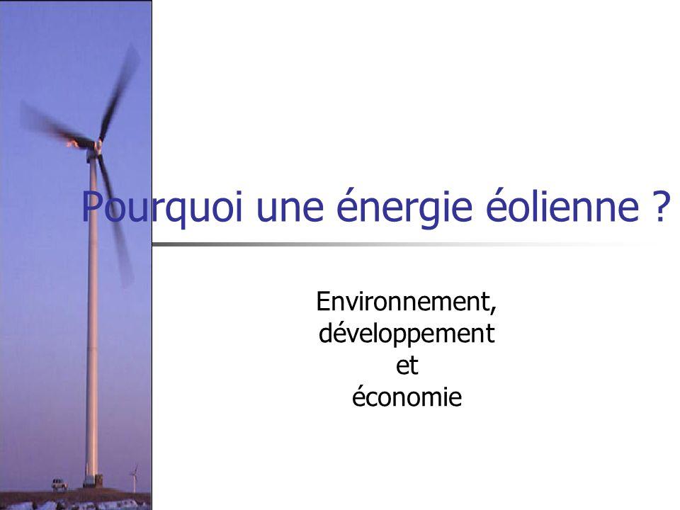 Pourquoi une énergie éolienne