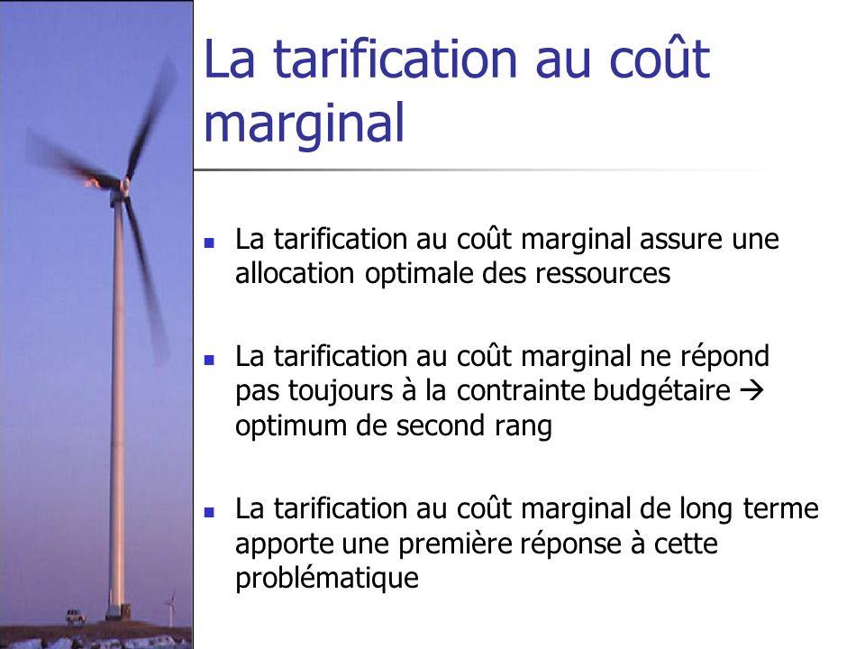 La tarification au coût marginal