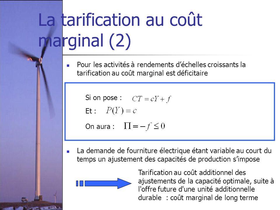 La tarification au coût marginal (2)