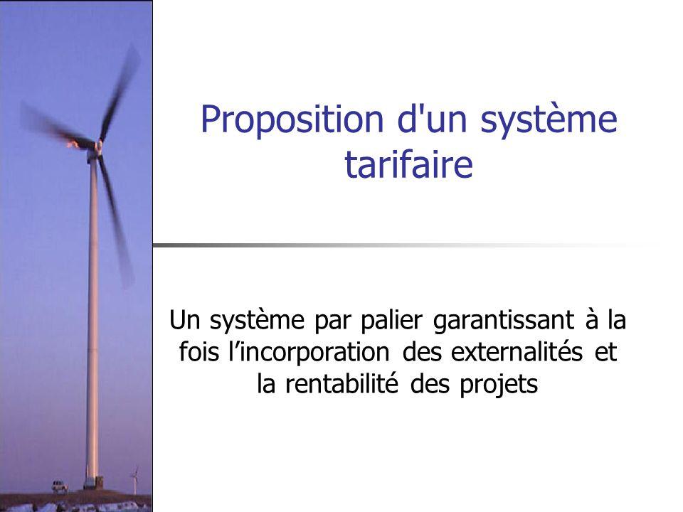 Proposition d un système tarifaire