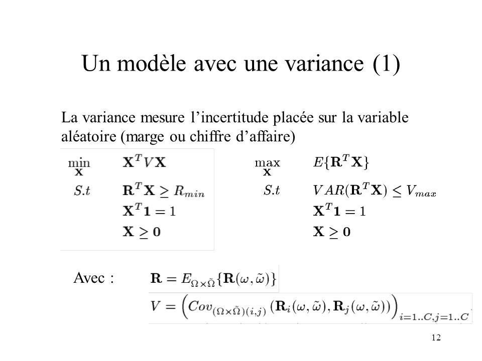 Un modèle avec une variance (1)