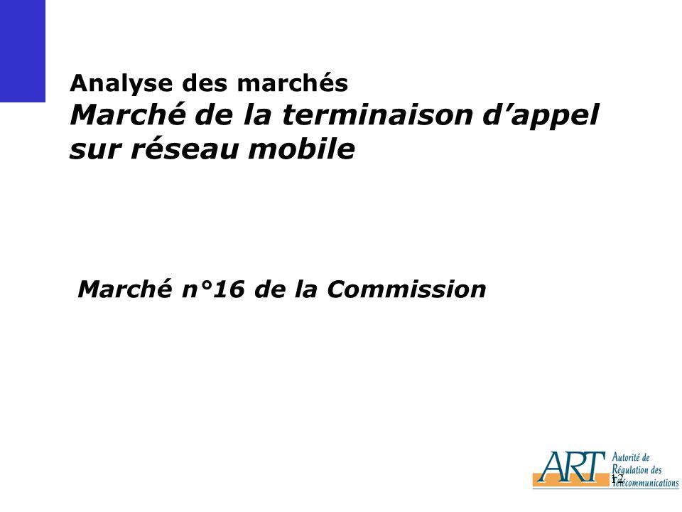 Analyse des marchés Marché de la terminaison d'appel sur réseau mobile Marché n°16 de la Commission