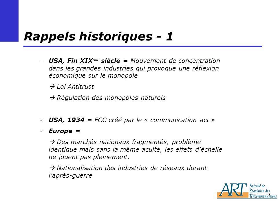 Rappels historiques - 1