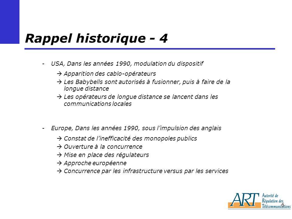 Rappel historique - 4 USA, Dans les années 1990, modulation du dispositif. Apparition des cablo-opérateurs.