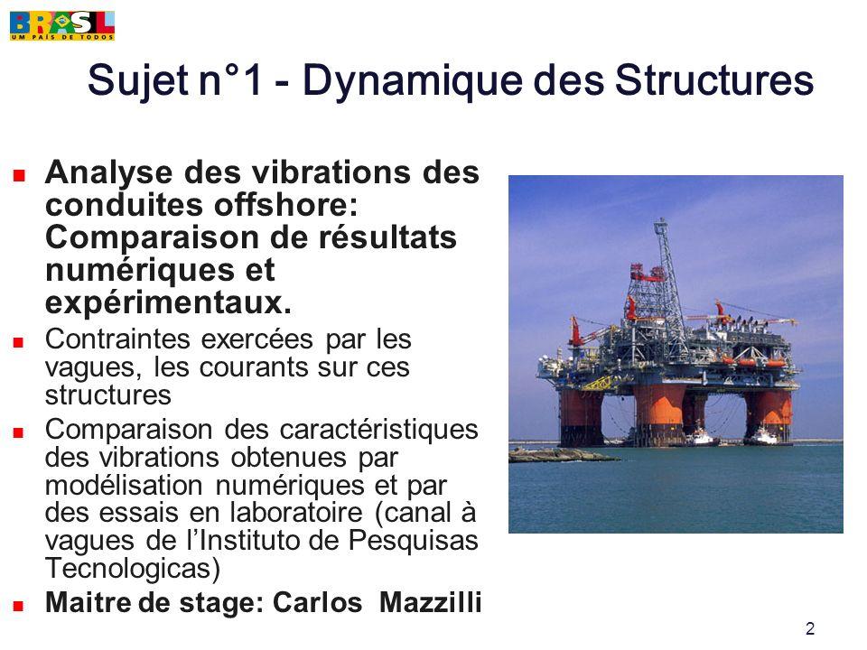 Sujet n°1 - Dynamique des Structures