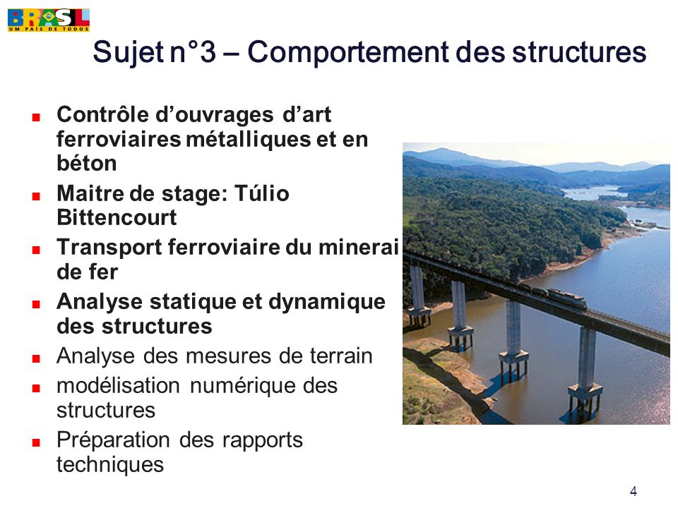 Sujet n°3 – Comportement des structures