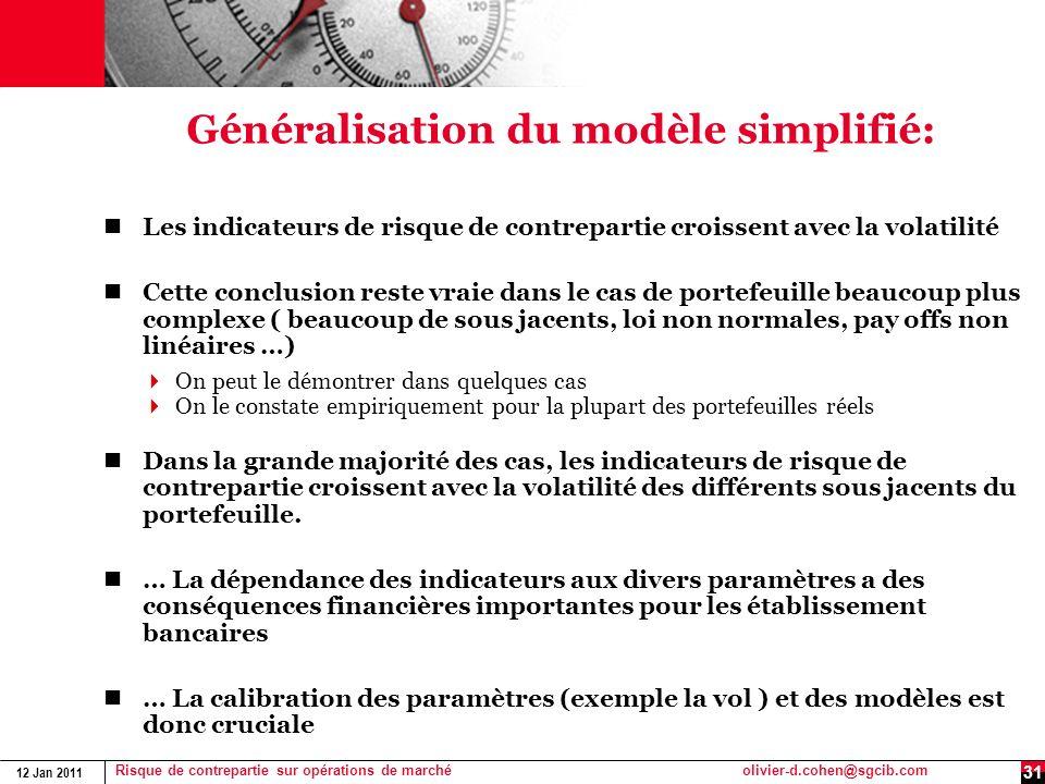 Généralisation du modèle simplifié: