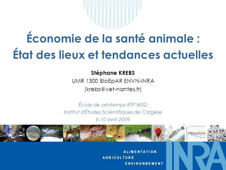Économie de la santé animale : État des lieux et tendances actuelles