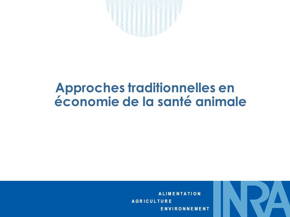 Approches traditionnelles en économie de la santé animale