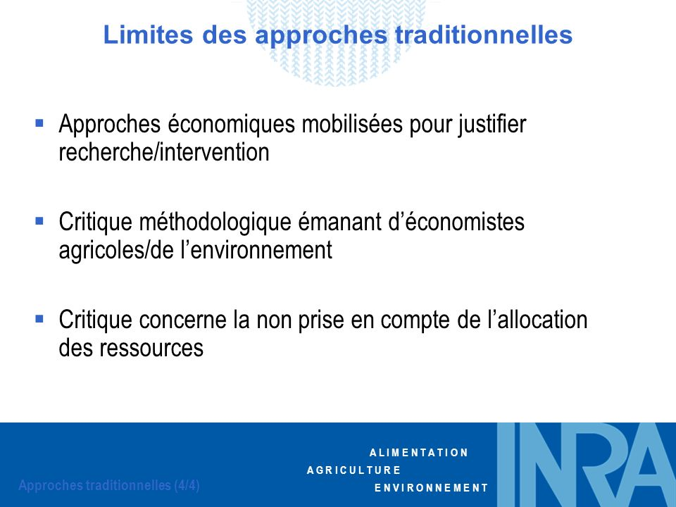 Limites des approches traditionnelles