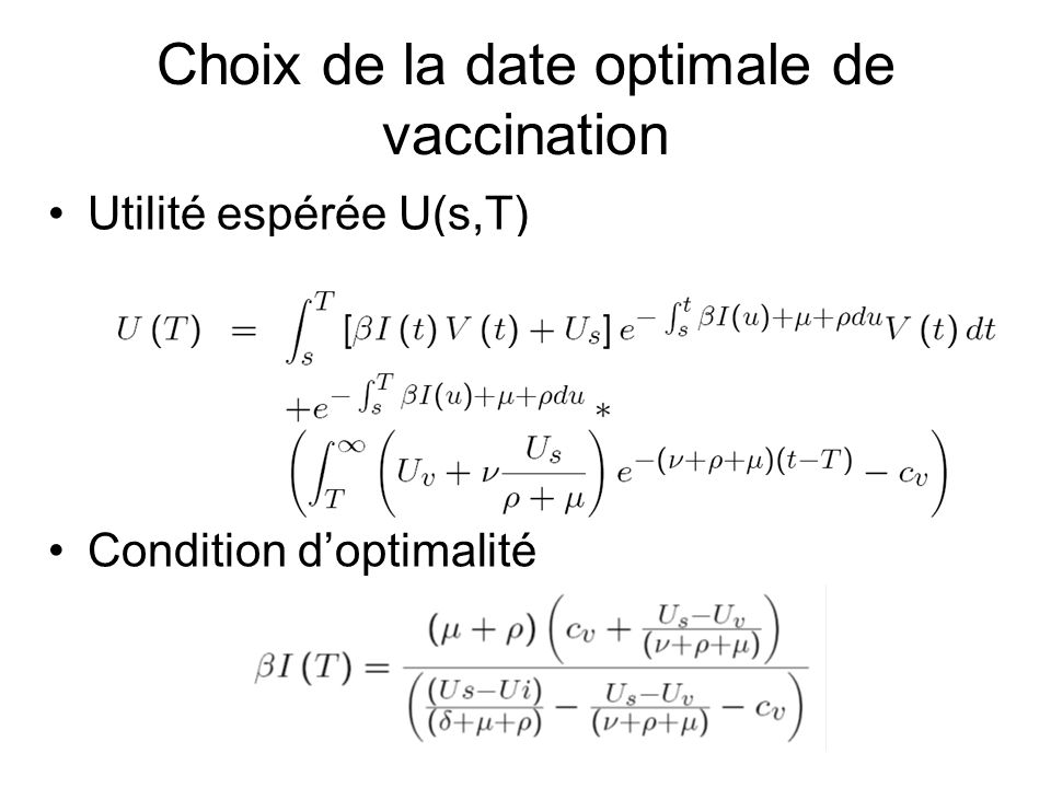Choix de la date optimale de vaccination