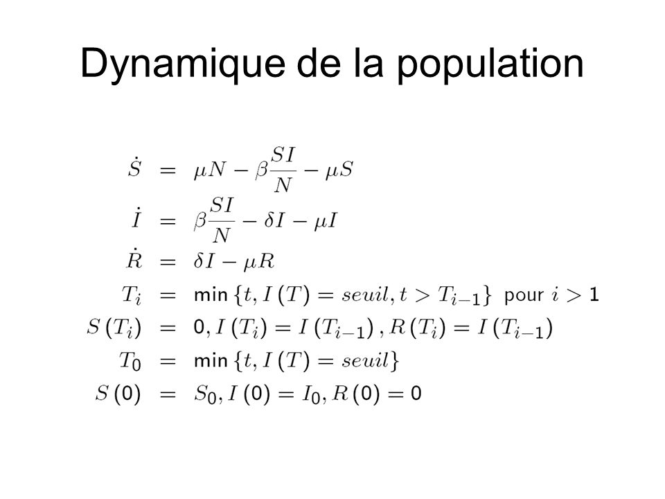 Dynamique de la population
