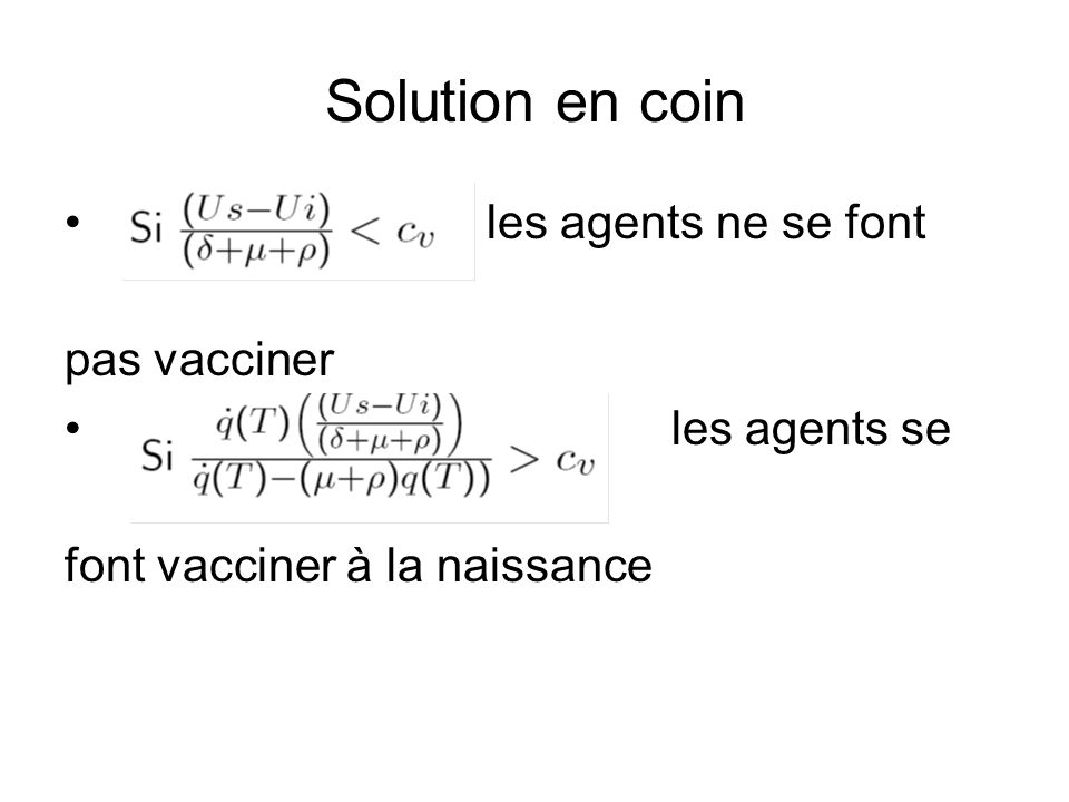 Solution en coin les agents ne se font pas vacciner les agents se