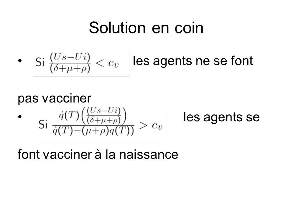 Solution en coin les agents ne se font pas vacciner les agents se