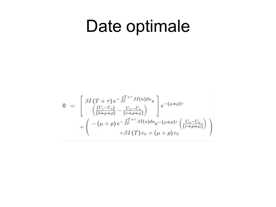 Date optimale