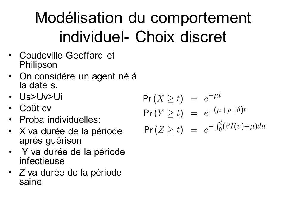 Modélisation du comportement individuel- Choix discret