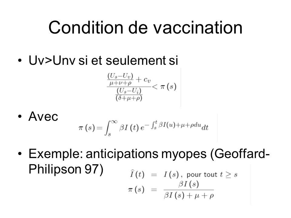 Condition de vaccination