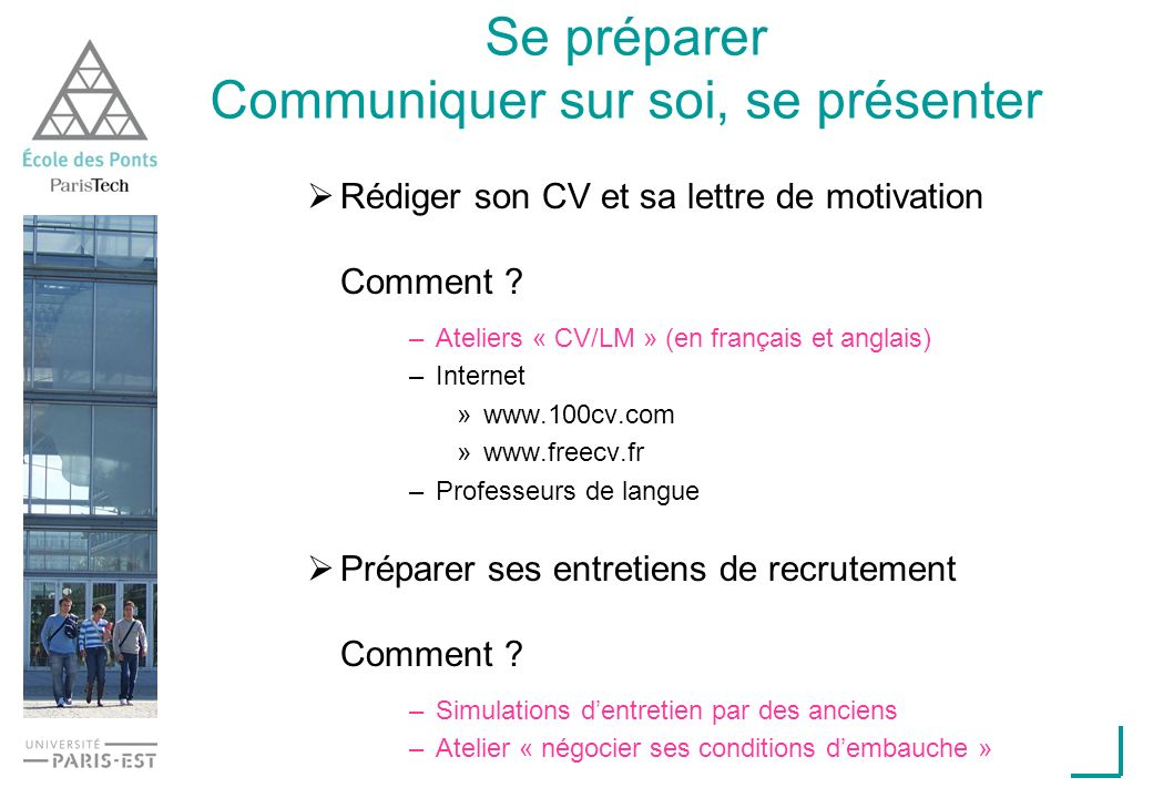 stages et orientation professionelle