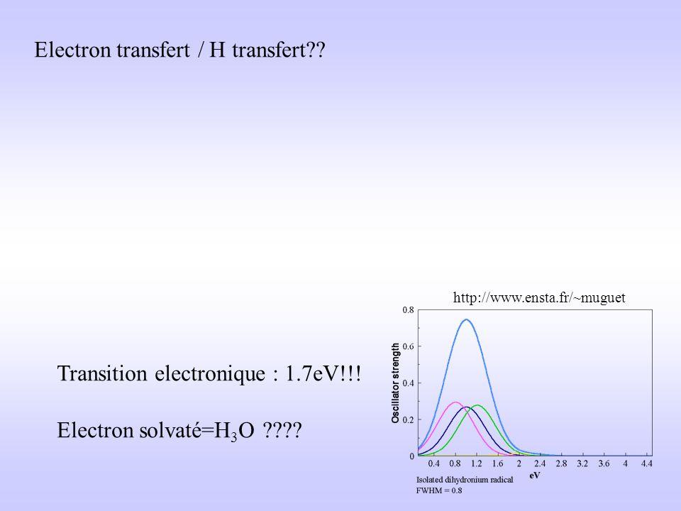 Electron transfert / H transfert
