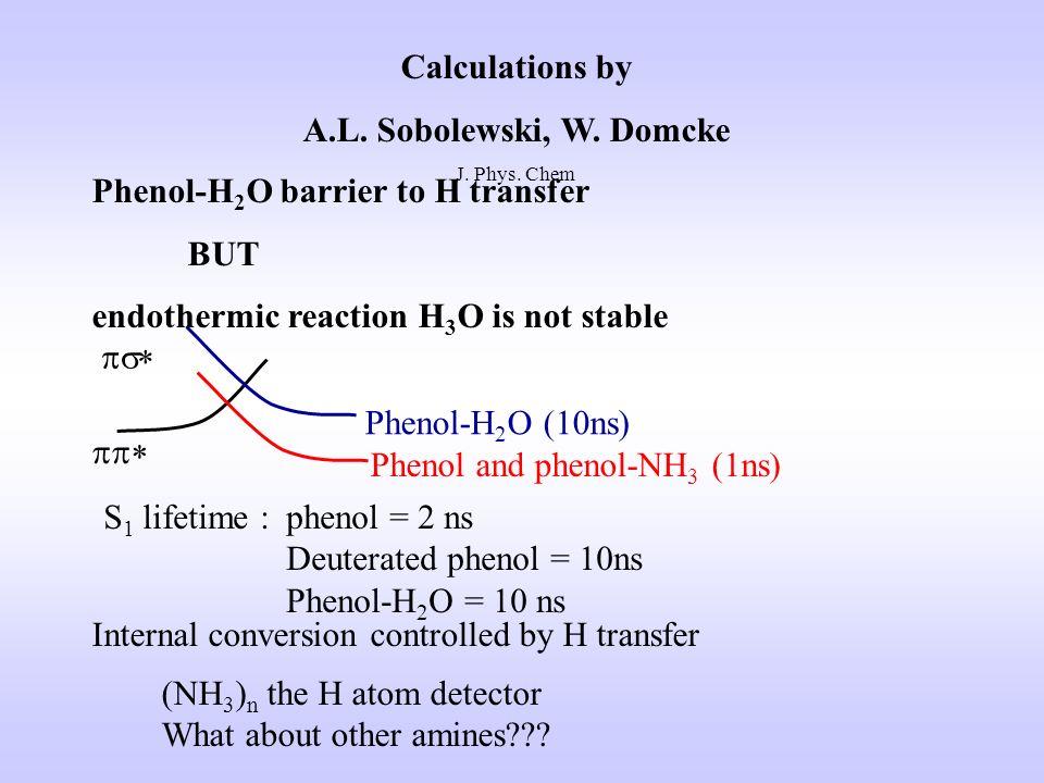 Calculations by A.L. Sobolewski, W. Domcke