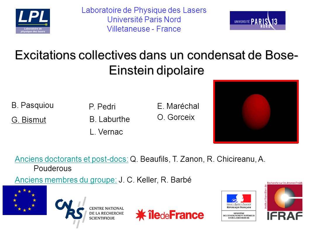 Excitations collectives dans un condensat de Bose-Einstein dipolaire
