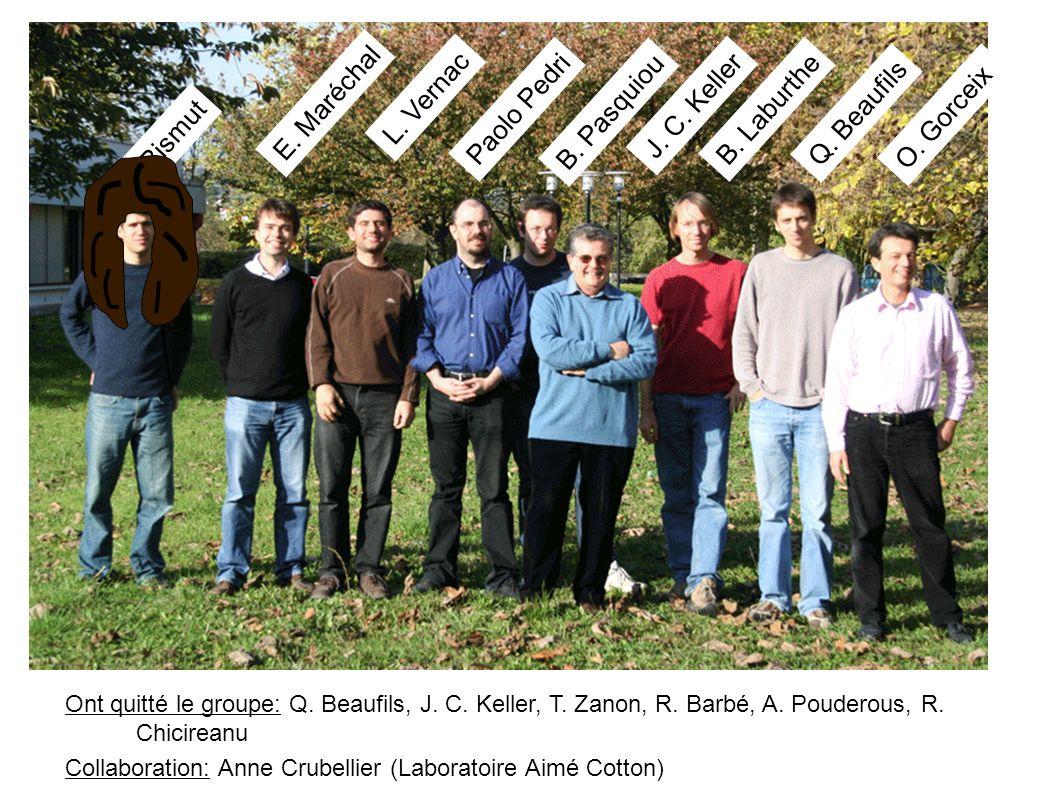 E. Maréchal L. Vernac Paolo Pedri J. C. Keller B. Pasquiou B. Laburthe