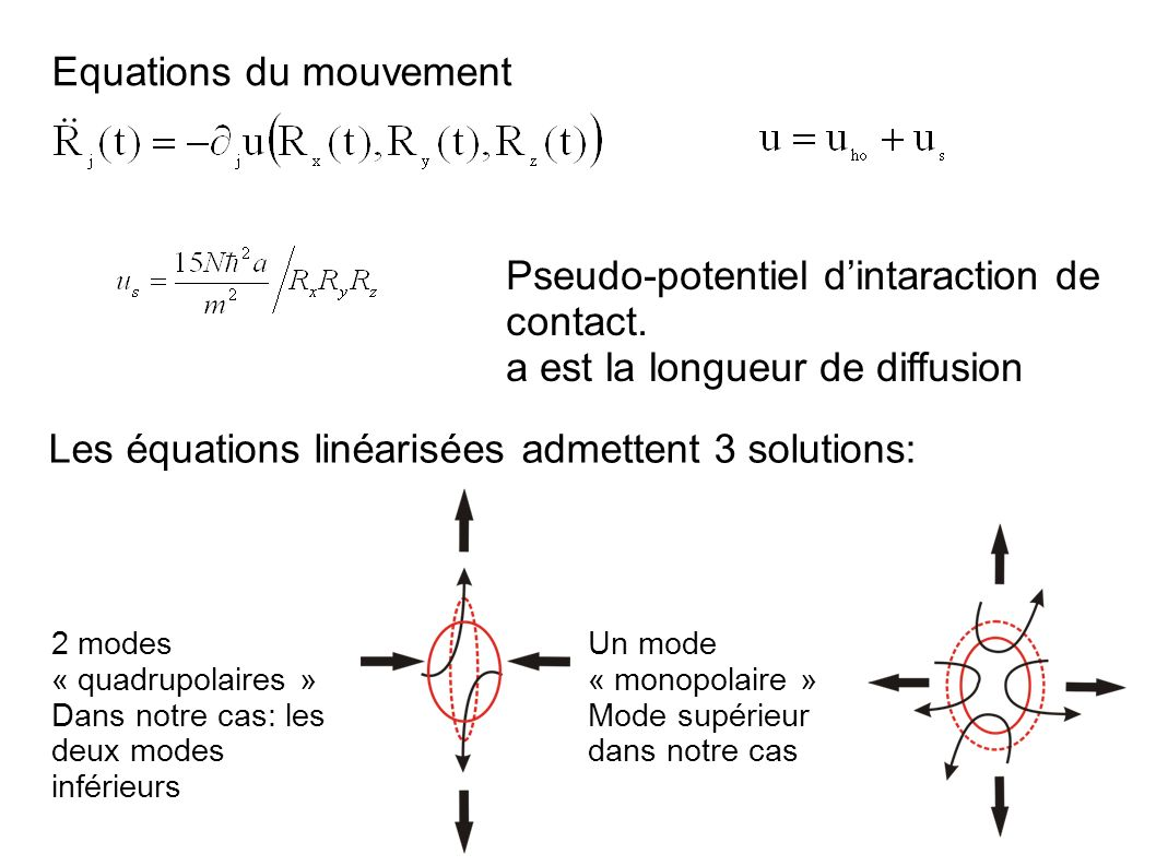 Equations du mouvement