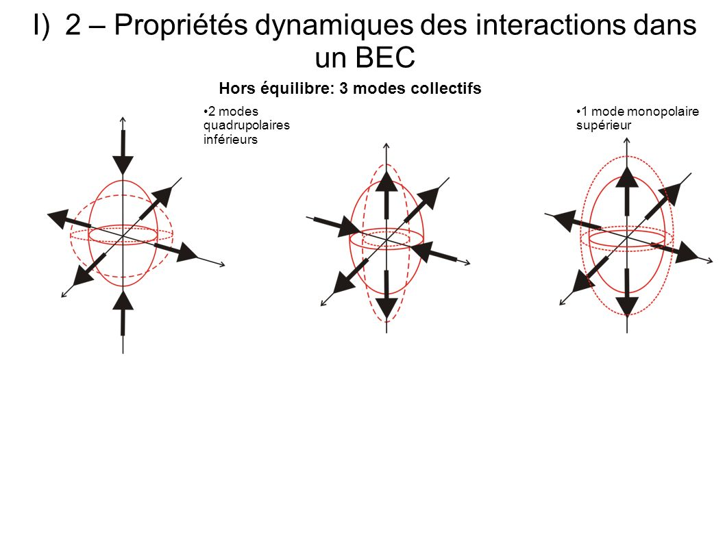 2 – Propriétés dynamiques des interactions dans