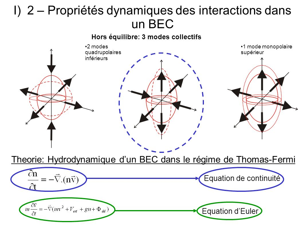 2 – Propriétés dynamiques des interactions dans un BEC
