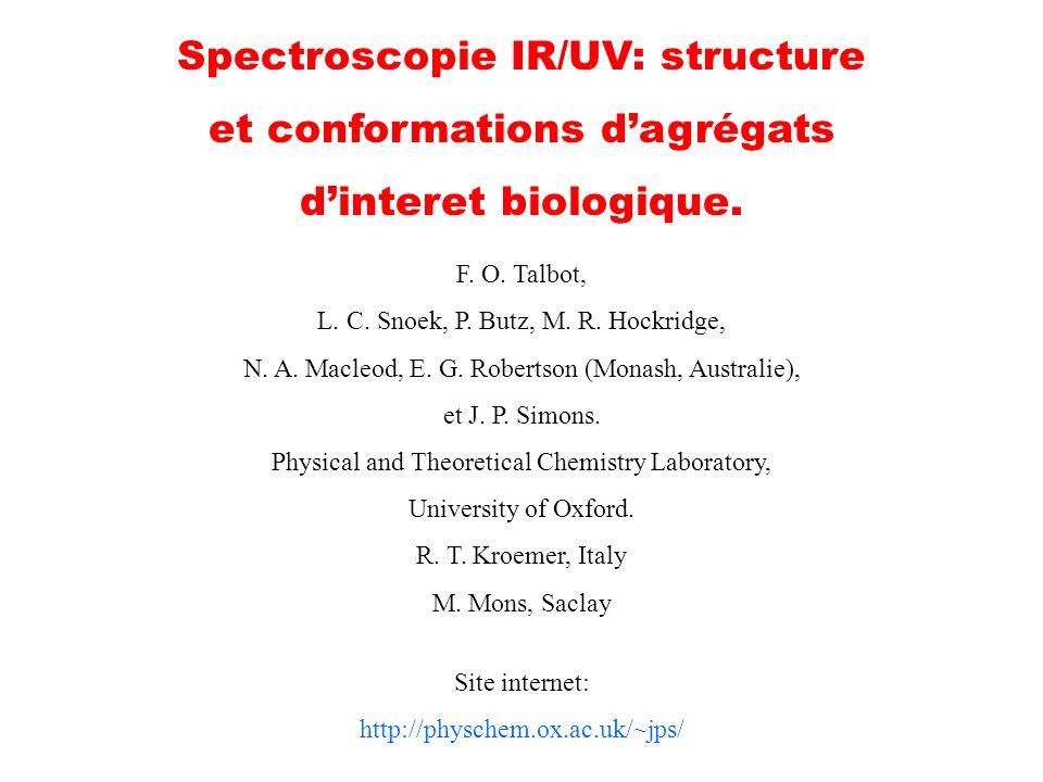 Spectroscopie IR/UV: structure et conformations d'agrégats