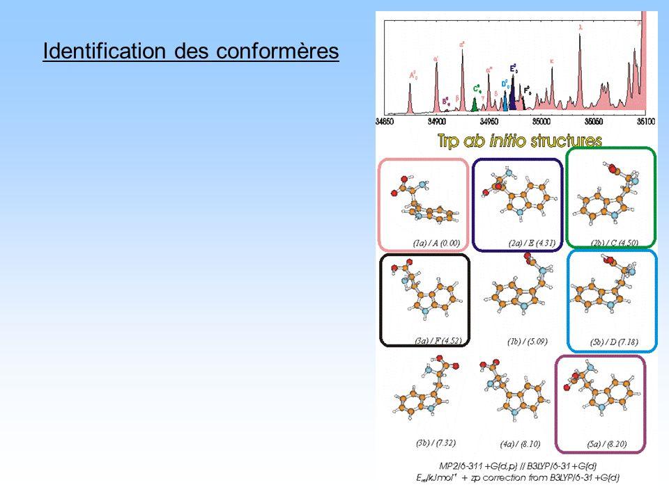Identification des conformères