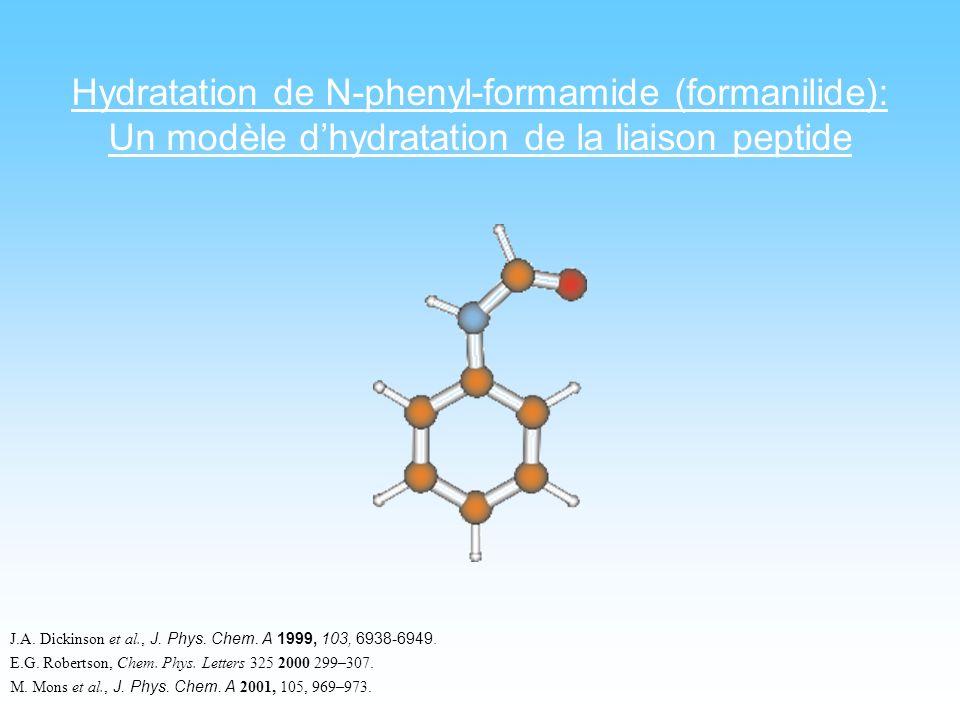 Hydratation de N-phenyl-formamide (formanilide):