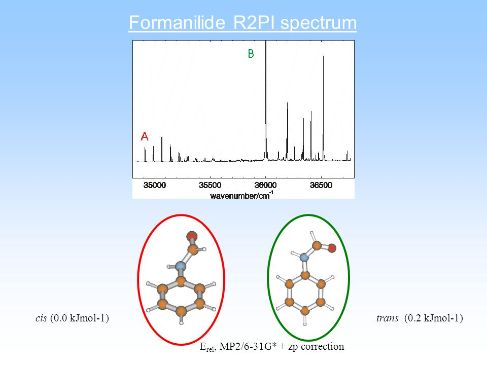 Formanilide R2PI spectrum