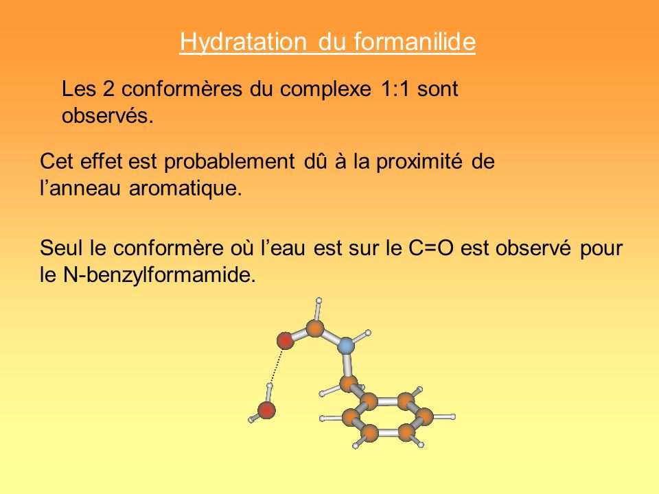 Hydratation du formanilide