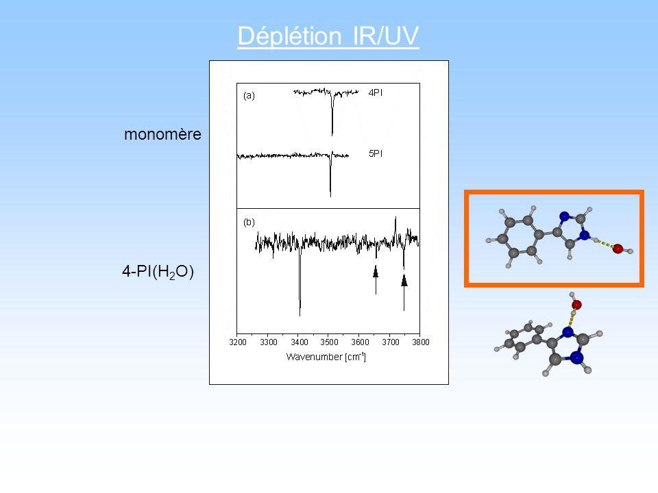 Déplétion IR/UV monomère 4-PI(H2O)