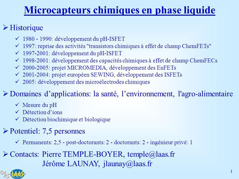 Microcapteurs chimiques en phase liquide