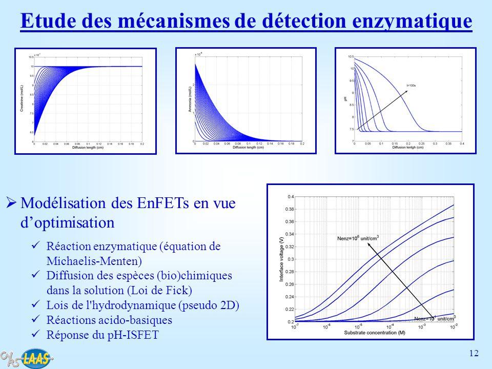 Etude des mécanismes de détection enzymatique