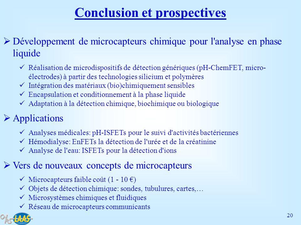 Conclusion et prospectives