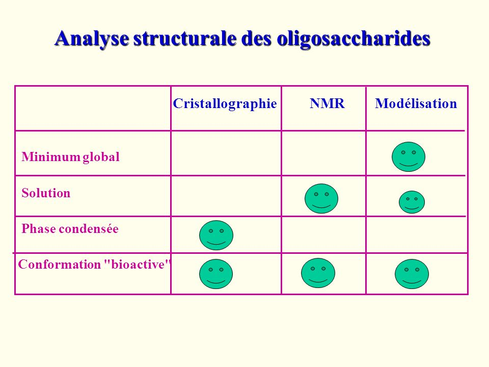 Analyse structurale des oligosaccharides