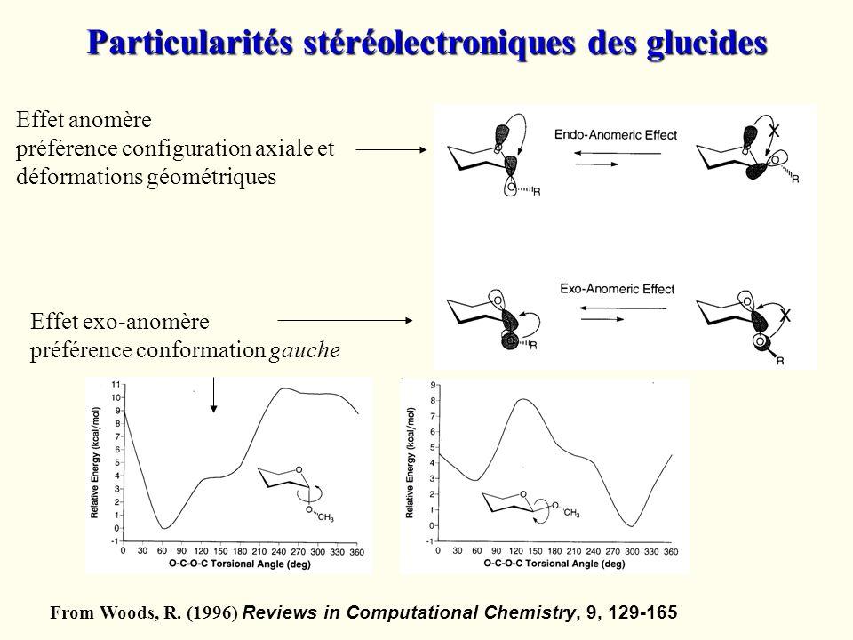 Particularités stéréolectroniques des glucides