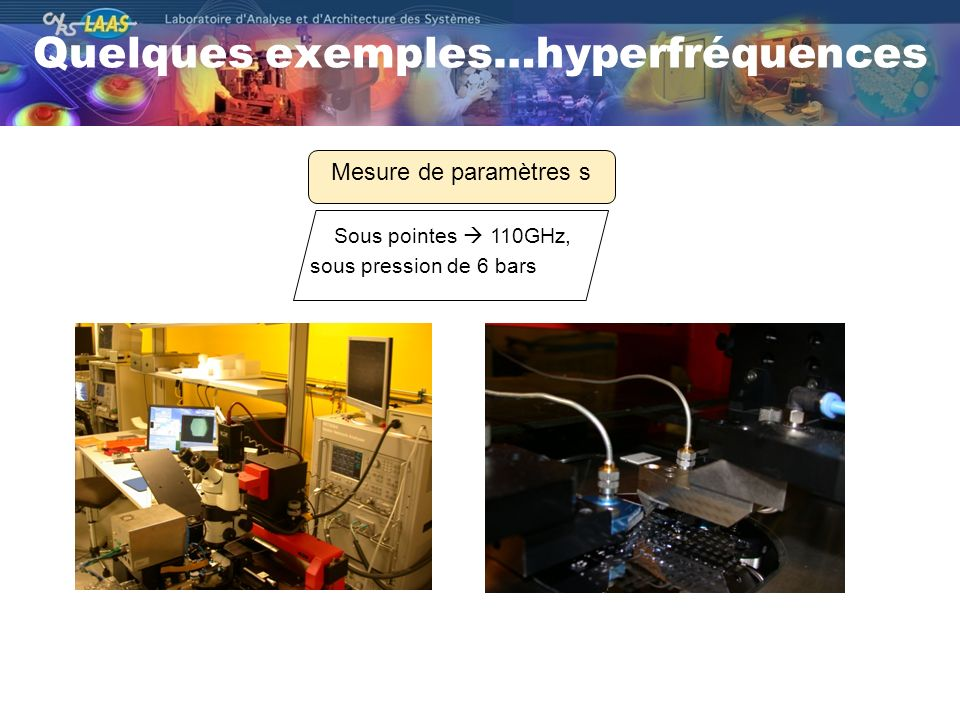 Quelques exemples…hyperfréquences