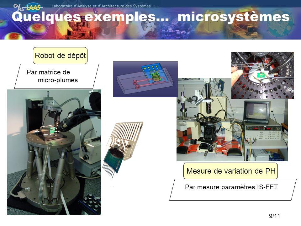 Quelques exemples… microsystèmes