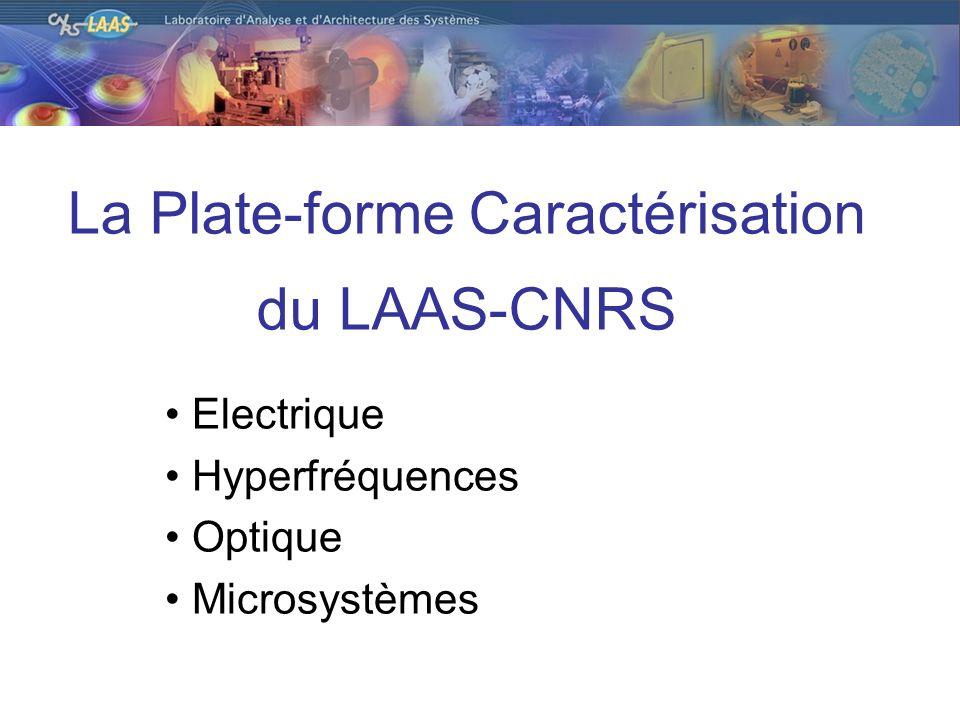 La Plate-forme Caractérisation du LAAS-CNRS