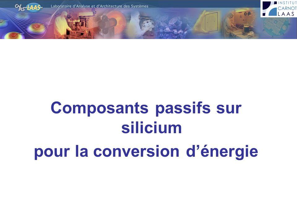 Composants passifs sur silicium pour la conversion d'énergie