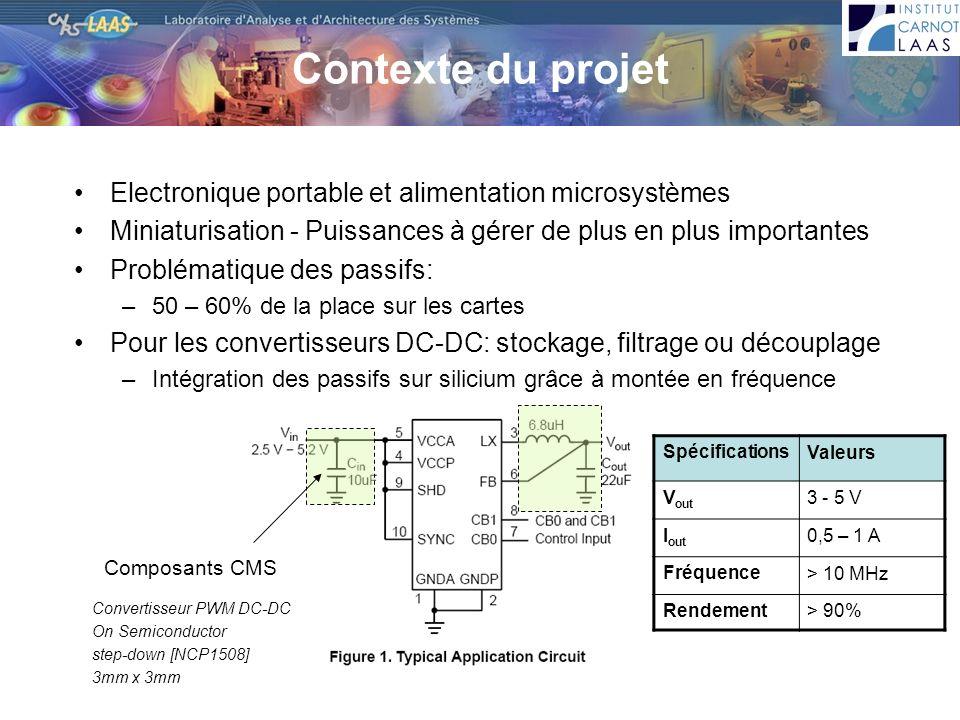 Contexte du projet Electronique portable et alimentation microsystèmes