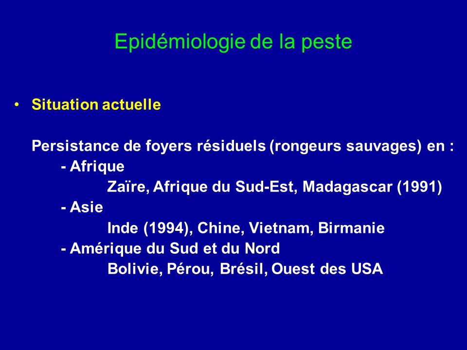 Epidémiologie de la peste